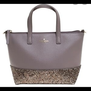 Kate Spade Penny Greta Glitter Tote with Wallet